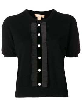 Button Front Knitted Top by Michael Kors Collection