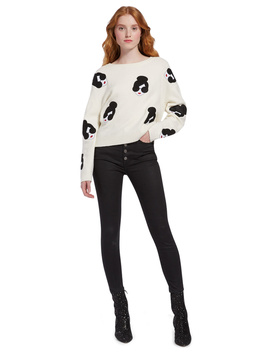 Gleeson Staceface Boxy Pullover by Alice And Olivia