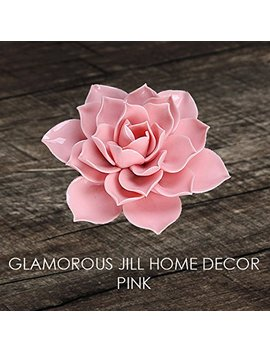 Glamorous Jill Ceramic Lotus Incense Holder (Glossy Finish) (Pink) by Glamorous Jill