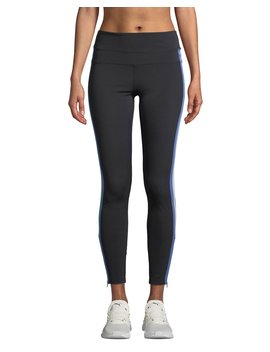 Side Stripe High Rise Activewear Track Tights by Spiritual Gangster