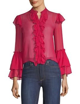 Odele Trumpet Sleeve Blouse by Alice + Olivia
