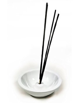 Bellaa 29806 Bowl Incense Sticks Holder Japanes Style Ceramic Pure White by Bellaa