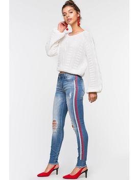 Demi Side Stripe Skinny by A'gaci