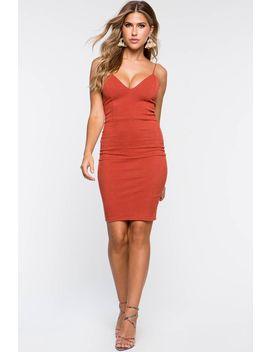 Levy Corduroy Bodycon Dress by A'gaci