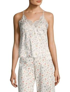 Sleeveless Floral Vine Lace Cami by Rebecca Taylor