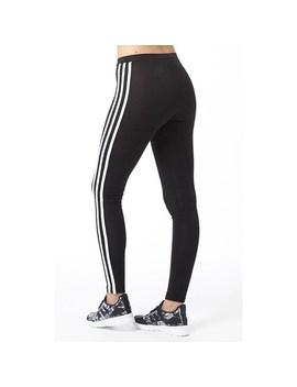 Adidas Originals Womens Trefoil 3 Striped Leggings Black by Mand M Direct