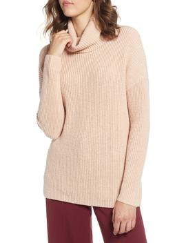 Oversized Turtleneck Tunic Sweater by Halogen