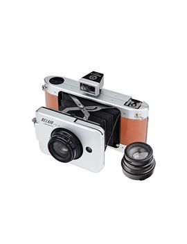 Lomography Belair X 6 12 Jetsetter Medium Format Folding Camera   Metal/Leather (Silver/Brown) by Lomography