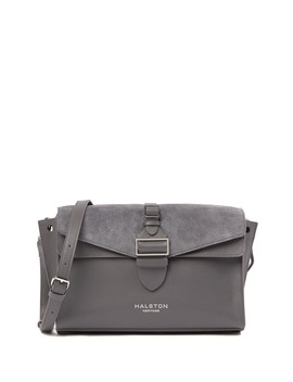 Suede & Leather Medium Shoulder Bag by Halston Heritage