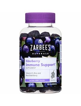 Zarbee's Naturals Elderberry Immune Support* Gummies, With Vitamin C, Zinc & Real Elderberry, 60 Gummies (1 Bottle) Supports The Immune System* by Zarbee's Naturals