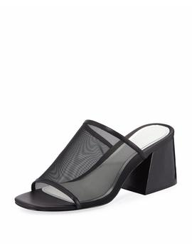 Emmy Mesh Block Heel Slide Sandal by Rag & Bone