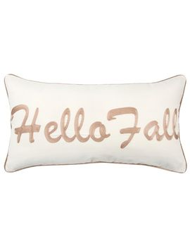 """Rizzy Home Brown """"Hello Fall"""" Contemporary Oblong Throw Pillow by Kohl's"""