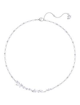 Louison Necklace, White, Rhodium Plating by Swarovski