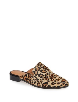 Violet Leopard Print Genuine Calf Hair Mule by Halogen