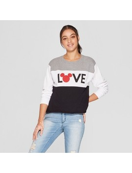 Women's Disney Love Mickey Mouse Graphic Sweatshirt (Juniors') White by Disney