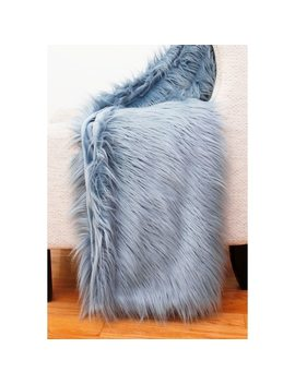 Thro Faux Mongolian Decorative Throw by Thro