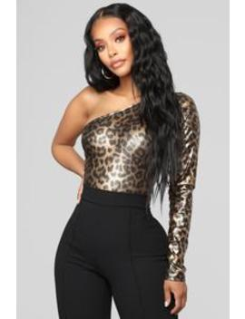 Fire And Fury Bodysuit   Gold by Fashion Nova