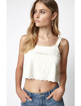 La Hearts Eyelet Embroidered Top by Pacsun