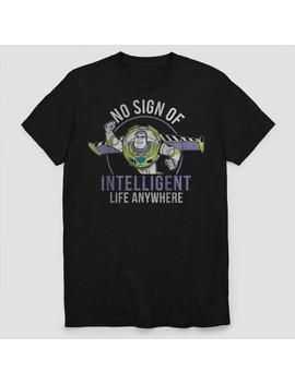 Men's Disney Buzz Lightyear Short Sleeve T Shirt   Black by Disney