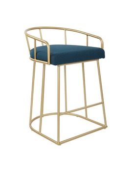 Ave Six Mid Century Luna 26 Inch Fabricated Counter Stool With Gold Base by Office Star Products