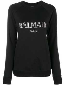 Balmainlogo Print Sweatshirthome Women Balmain Clothing Sweaters by Balmain