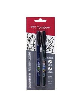 Tombow Fudenosuke Pinsel Pen Weiche Und Harte Spitze 2 Pack Schwarz by Amazon