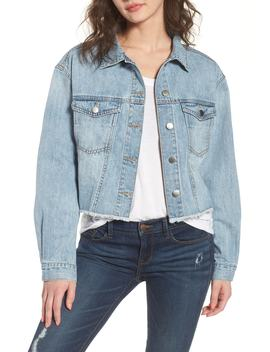 Raw Hem Crop Denim Jacket by Bp.