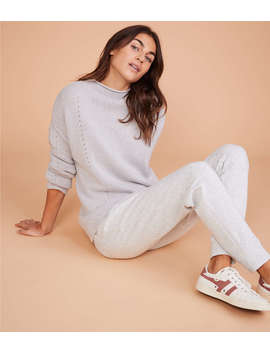 Lou &Amp; Grey Pointelle Cashmere Sweater by Lou & Grey