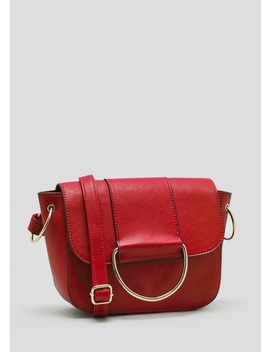 D Ring Front Cross Body Bag by Matalan