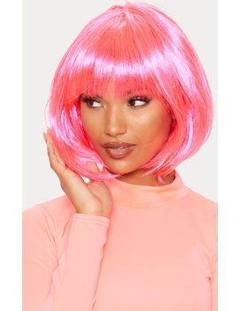 Pink Bob Wig by Prettylittlething