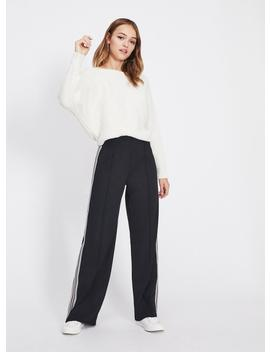 Stripe Jersey Long Leg Trousers by Miss Selfridge