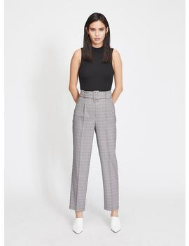 Checked Belted Trousers by Miss Selfridge