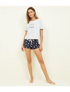 Navy Disney Chip Mug Pyjama Set by New Look