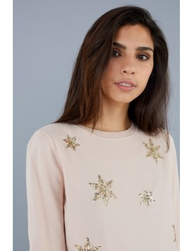 Society 8 Snowflake Scatter Christmas Jumper by Next