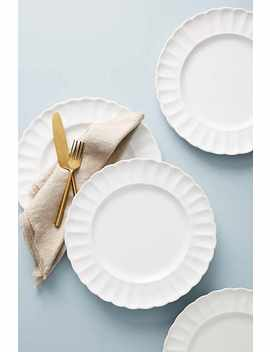 Set Of Four Essentials Daisy Dinner Plates by Anthropologie
