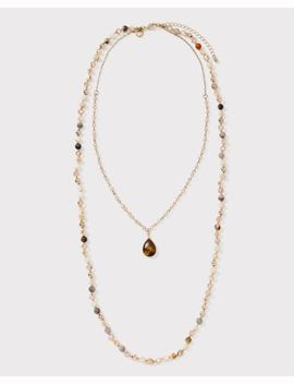 Long Beaded Two Row Necklace by Rw & Co