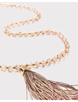 Glass Bead Necklace With Tassel by Rw & Co
