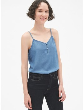 Button Front Cami In Tencel™ by Gap