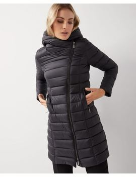 Mid Length Quilted Water Repellent Coat by Rw & Co