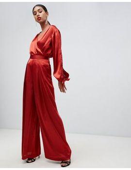 Asos Design Soft Wide Leg Trouser Co Ord by Asos Design