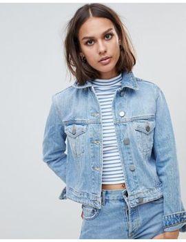 Asos Design Recycled Denim Shrunken Jacket In Vintage Wash by Asos Design
