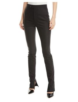 Femme Lo High Waist Split Cigarette Pants by Neiman Marcus