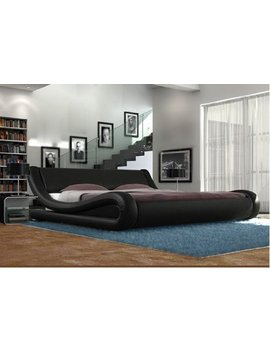 Home Living Exclusive European Designer Bed Supplied In Brown Black, White And Black & White (Black, King Size) by Home Living