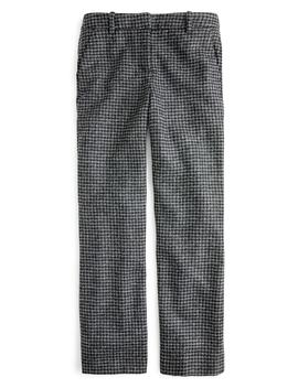 Peyton Houndstooth High Rise Wide Leg Pants by J.Crew
