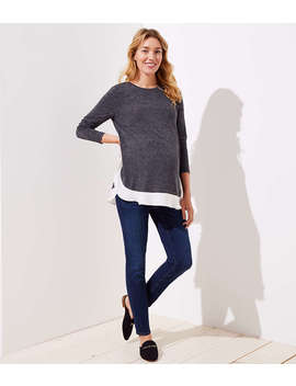 Maternity Skinny Jeans In Staple Dark Indigo Wash by Loft