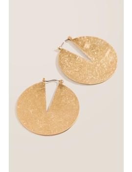 Jill Worn Metal Statement Earrings by Francesca's