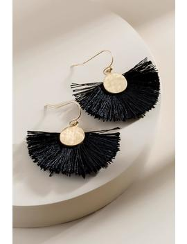 Mary Coin Fanned Tassel Earrings by Francesca's