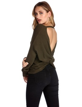 Twist Back Pullover by Windsor