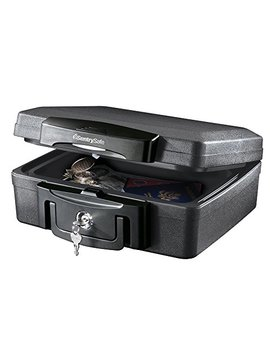 Sentry Safe H0100 Fireproof Box And Waterproof Box With Key Lock 0.17 Cubic Feet by Sentry Safe