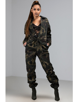Are You Riding Camo Jumpsuit by Akira